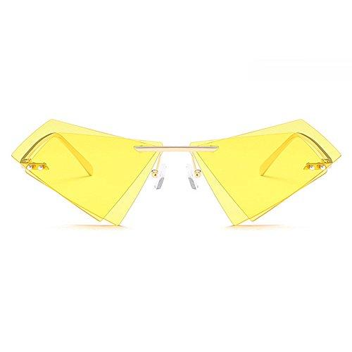Gafas de de moda montura para Hombres Triángulo amarillo color negro la para mujeres sin de hombre Conducción doble marca Eyewear con Amarillo sol lente Damas estuche de Lentes de Diseñador AqxHnwOXxT