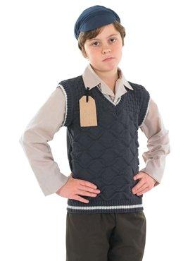 EVACUEE SCHOOL BOY Kids Fancy Dress Costume (Schoolboy Fancy Dress)