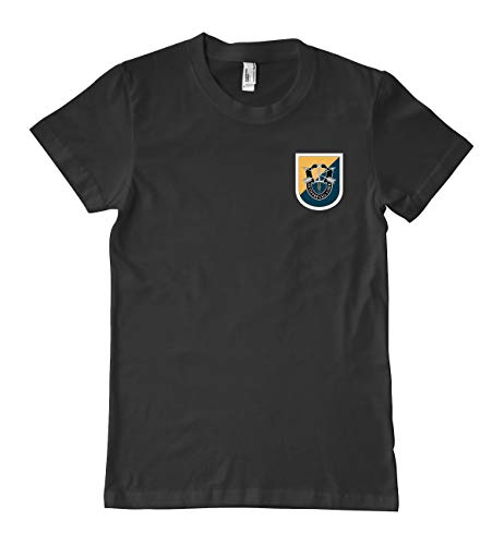 Luna Distributing US Army 8th Special Forces Group Flash Military T-Shirt 100% Cotton Black