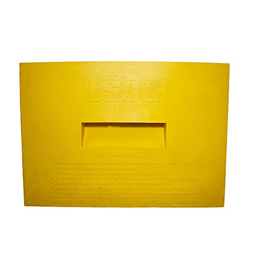 Esco 12593 Safety Yellow Pro Series Wheel Chock for Dump Trucks, Loaders, Construction Equipment and Tractors by Esco (Image #3)