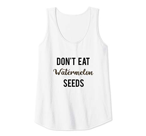 (Womens Cute Pregnancy Don't Eat Watermelon Seeds Ladies Workout  Tank Top)