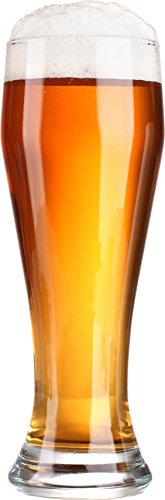 Circleware Long Beach Pilsner Weizen Beer Drinking Glasses, Set of 4, 23 ounce, Limited Edition Glassware ()