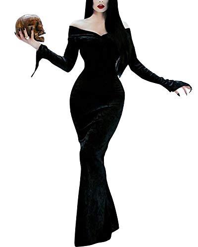 Morticia Addams Dress - GIKING Halloween Costume Women Morticia Addams