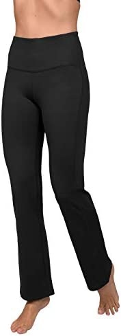 90 Degree By Reflex High Waist Boot Cut Yoga Pants with Warm Fleece Lining
