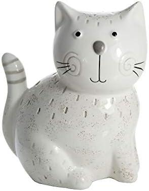SPOTTED DOG GIFT COMPANY Adornos Gato, Figura Decorativa Estatua de cerámica Color Blanco Altura 16 cm, Amante de Gatos Regalo para para niña y niño, niños y Adultos: Amazon.es: Hogar