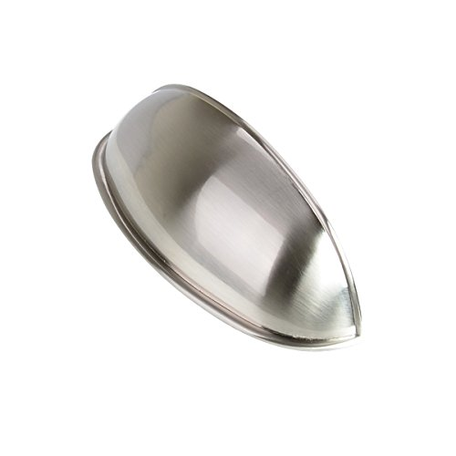 South Main Hardware SH-3970-SN-25 25-Pack Modern Bin Cup Drawer Handle Wide Pull, 3