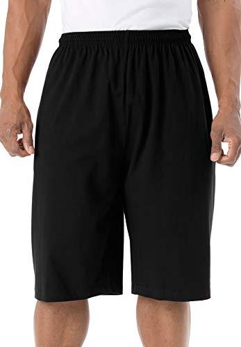KingSize Men's Big & Tall Lightweight Extra Long Shorts, Black Big-3Xl