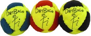 Dirtbag Classic Footbag 3 pack Fluorescent Yellow/Red Combo by Dirtbag