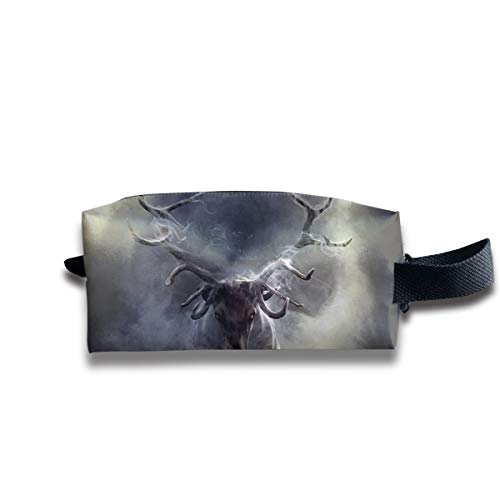 Durable Zipper Storage Bag Makeup Handbag Cloud Animal Deer Toiletry Bag With Wrist -