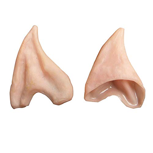 Halloween Exorcist Makeup (HOMEYA Elf Ears Cosplay Halloween Costumes Soft Pointed Prosthetic Ear Tips - 1)