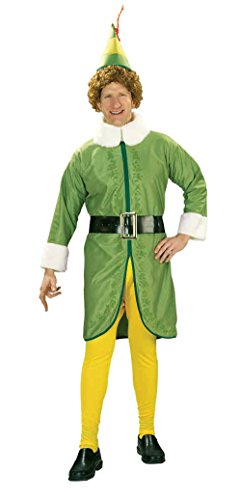 Ultimate Halloween Costume UHC Men's Buddy The Elf Christmas Holiday Theme Party Fancy Costume, Standard (Up To (Holiday Theme Party Costumes)