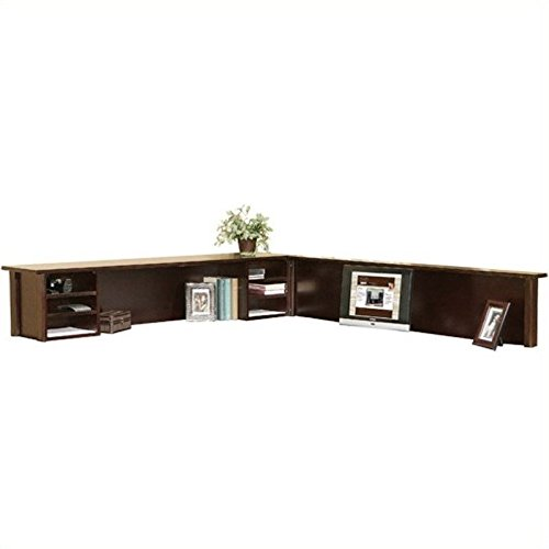 kathy ireland Home by Martin Tribeca Loft Cherry Reception Hutch and Return - Fully Assembled