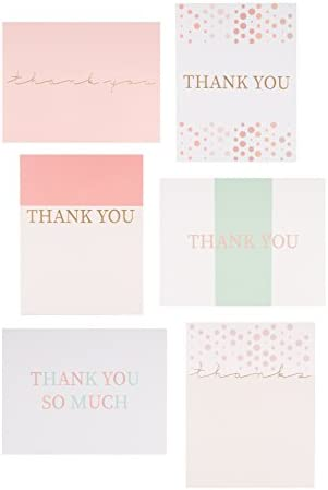 30 Letterpress Thank You Notes Pink Thank You Cards with Gold Printed Envelopes and Sticker Seals. Formal Bulk Set for Bridesmaid, Cute Baby Shower Girl, Bridal Shower Thank You Cards Pink and Gold.