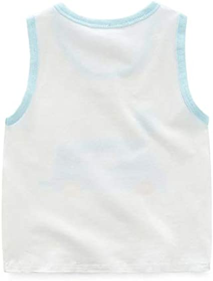 Z-Chen 4 Pack of Kids Boys Sleeveless Vest Top Undershirts Tank Tops Age 3-7 Years