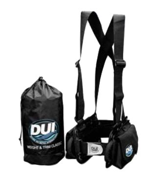 DUI Weight and Trim System for Dry Suit Diving Holds up to 40 LBS of Weight (LG - max waist ()