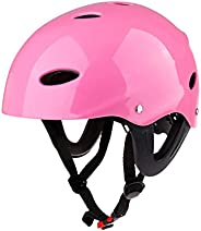 Helmet ABS Safety Helmet Protective Hard Hat for Water Sports Kayak Skate Bike Cycling Canoeing Wakeboarding W