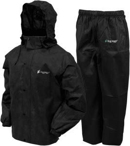 Frogg Toggs Unisex-Adult All All Sports Rainsuit (Black, X-Large) - - 30 Rainsuit