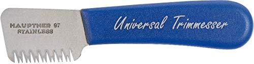 Hauptner 68532000 Trimming Knife Right-Handed 13 cm for Top Hair Stainless Steel Blue