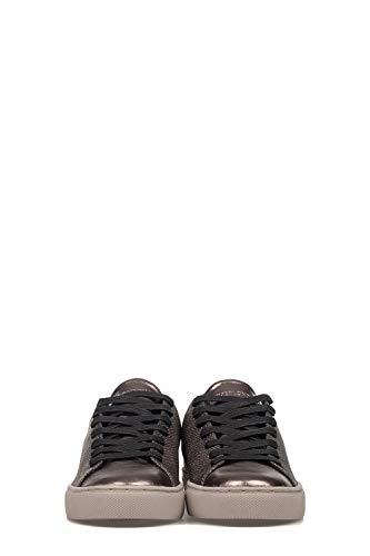 London Crime rosa Sneakers 25401a17b23 Pelle Grigio Donna qqrdOC