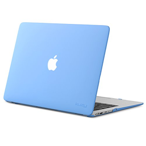 Kuzy MacBook Air 13 inch Case A1466 A1369 Rubberized Hard Cover for Older Version 2017, 2016, 2015, Serenity Blue