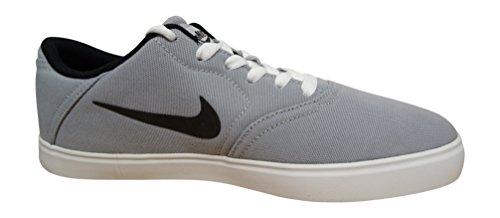 Uomo Nike Sb Cnv Controllo Pattinare Scarpa Lupo Bianco Nero Grigio 003