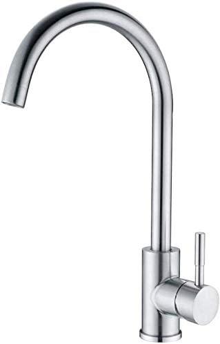 WCY Hahn-Küche 360 Grad drehbar Einhandküchenarmatur Flush Montage Edelstahl gebürstet Fitting-Bogen yqaae (Color : Arc)