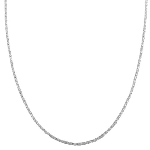 Sterling Silver 1.1mm Twisted Box Chain (16 inch) ()