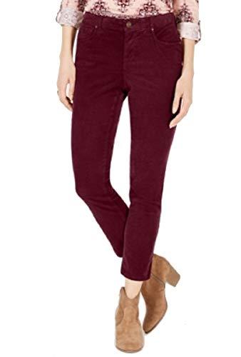 Style & Co. Petite Tummy Control Corduroy Pants (Berry Jam, ()