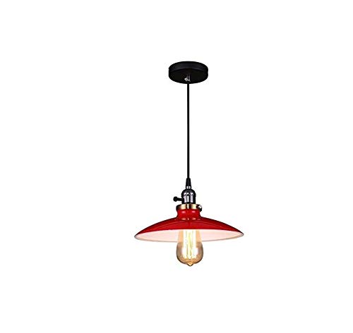 Wandlampe27 Industriestil Pendelleuchte mit Ufo-Untertasse aus Eisen