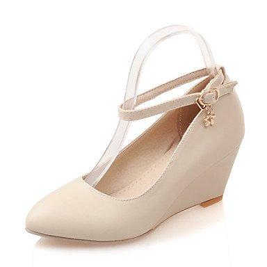 Zapatos Mujer Noche 5 Primavera De 7 5 De 5 EU37 Verano amp;Amp; Tacones Parte Hebilla Formales Polipiel CN37 US6 UK4 Zormey Cuña Vestido Talón P5q4Iwxv