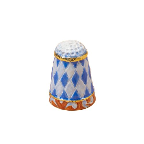 Enesco Jim Shore Heartwood Creek Quilt Pattern Thimble, 1-Inch (Enesco Thimble)