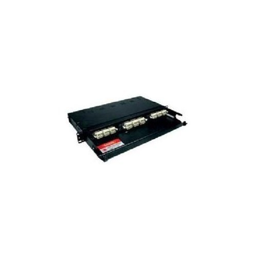 C2G 39101 Q-Series 1u 3-Panel Rackmount Fiber Optic Enclosure, TAA Compliant, Black (Made in the USA) -