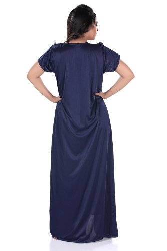 Lucy Secret Satin nightwear with gorgeous 2 piece full length night gown's