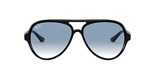 Ray-Ban Herren 4125 Brillengestelle, Schwarz (Black/Clear Gradient Blue), 59