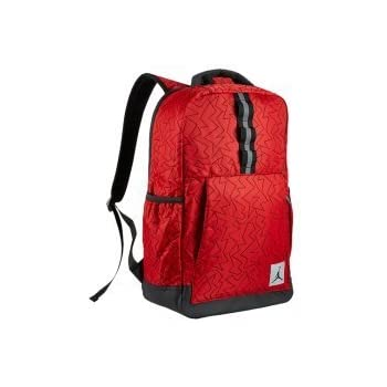 dd25fc23b89 Nike Air Jordan Jumpman Quilted Reflective Backpack Laptop Sleeve,  University Red, Black Zig Zag