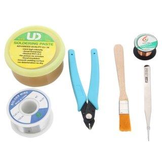 Xenia 6 piezas nuevo Cable auxiliar profesional soldadura Assist kit de reparación de herramientas de multi-colores: Amazon.es: Electrónica
