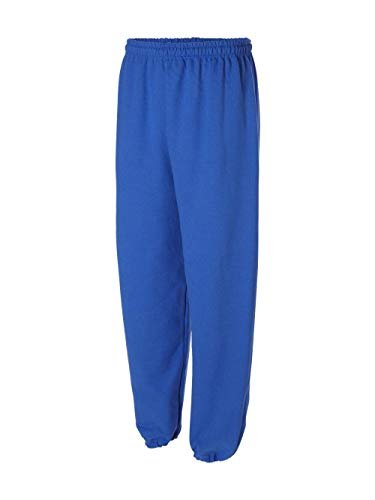 Cotton Blend Sweatpants (Gildan 18200 Heavy Blend Sweatpants, Royal, Large)