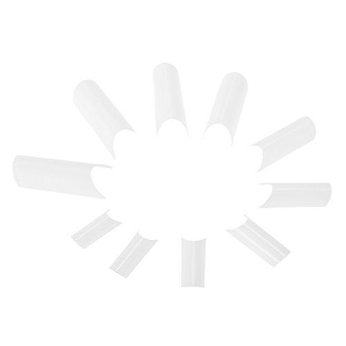 Anself 500Pcs False Nail Art Tips C-shape French Nail Tips Acrylic C Curve Nail Mold Tool