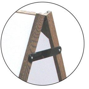 NEOPlex 25'' x 36'' Sidewalk A-frame Sandwich Board Sign w/Letter Track Insert Panels and Full Letter Kit