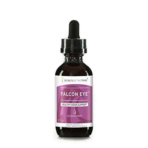 Falcon Eye Alcohol-Free Extract, Alcohol-Free Bilberry, Eyebright, Ginkgo, Green Tea, Carrot, Grape. Tincture Glycerite Healthy Vision Support (2 FL OZ)