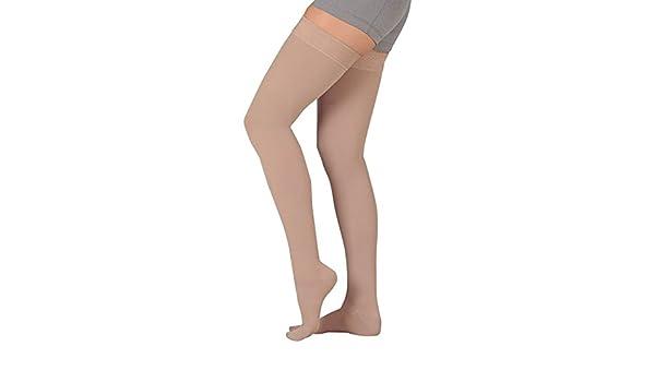 606584e10 Amazon.com  Juzo Soft 2000 Thigh Highs 15-20mmHg(beige-2(II)-ct-reg)   Health   Personal Care