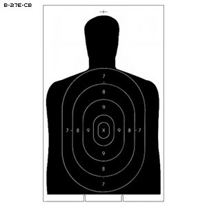 B-27E CARDBOARD TARGET 100 PACK by Law Enforcement Targets