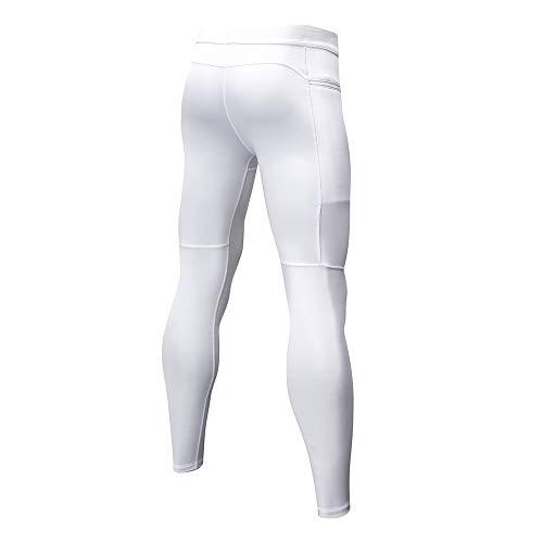 Cyclisme Running Casual Fitness Pants De Poche Gym Dihope Séchage Compression Pantalon Jogging Avec Legging Homme Rapide Sport Collant Blanc 0vqPZwa