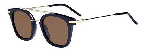 New Fendi Urban FF 0224/S PJP/70 Blue/Brown Sunglasses