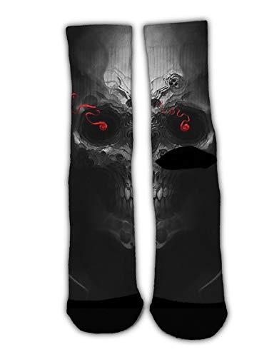 MrDecor Unisex Crazy Fun Cool Cool Skull sci fi Print Stockings Colorful Athletic Sport Novelty Crew Tube Socks