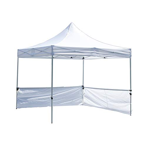 Vispronet 10ft Half Wall Hardware Kit for Square Canopy Tent Legs - Includes 4 Clamps and 2 Rail Bars - Half Wall Hardware Only, Tent and Wall not Included