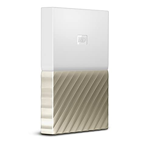 WD 2TB My Passport Ultra Portable External Hard Drive - USB 3.0 - White-Gold - WDBFKT0020BGD-WESN (Wd My Passport 2 Tb)