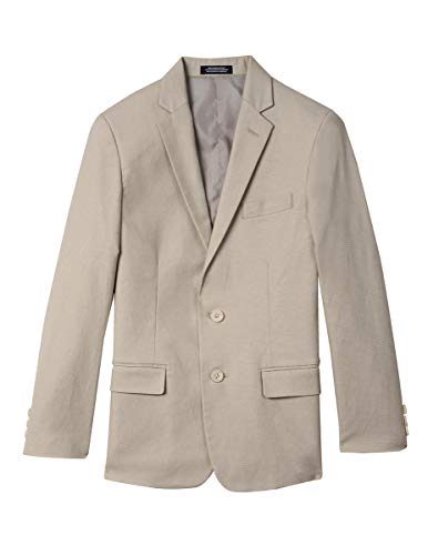 (Izod boys Linen Blazer Jacket, Light Stone Linen,)