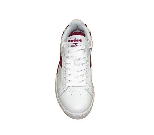 Diadora Game L Low, Zapatillas para Hombre Blanco (Bianco/rosso Peperoncino/bco)