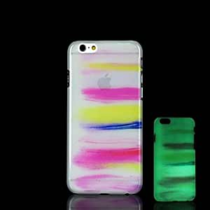 YULIN Colorful Pattern Glow in the Dark Hard Case for iPhone 6 Plus